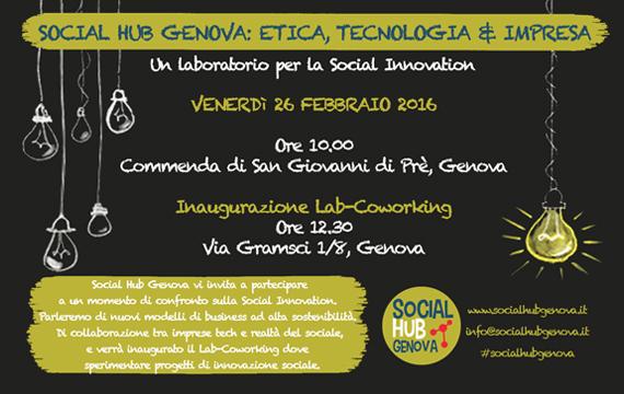 SOCIAL HUB GENOVA: etica, tecnologia & impresa