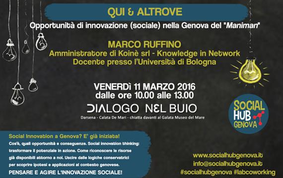 """QUI & ALTROVE – Opportunità di innovazione (sociale) nella Genova del """"Maniman"""""""