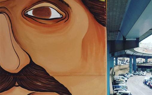 Walk the Line, la street art sui piloni della Sopraelevata di Genova